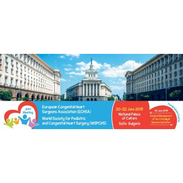"2019/06/20 - ""European Congenital Heart Surgeons Association"" & ""World Society for Pediatric and Congenital Heart Surgery"" in Sofia, Bulgaria"